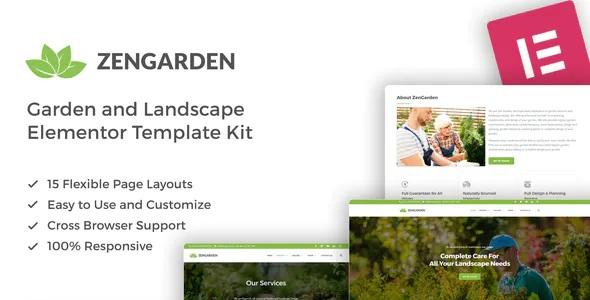 Best Garden & Landscape Elementor Template Kit