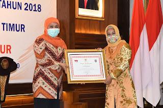 Kota Mojokerto Raih Penghargaan LPPD Peringkat Dua Kategori Kota se-Jatim