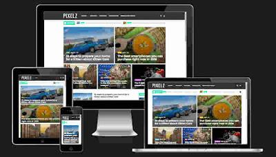 PixelZ Blog Blogger Template Free Download