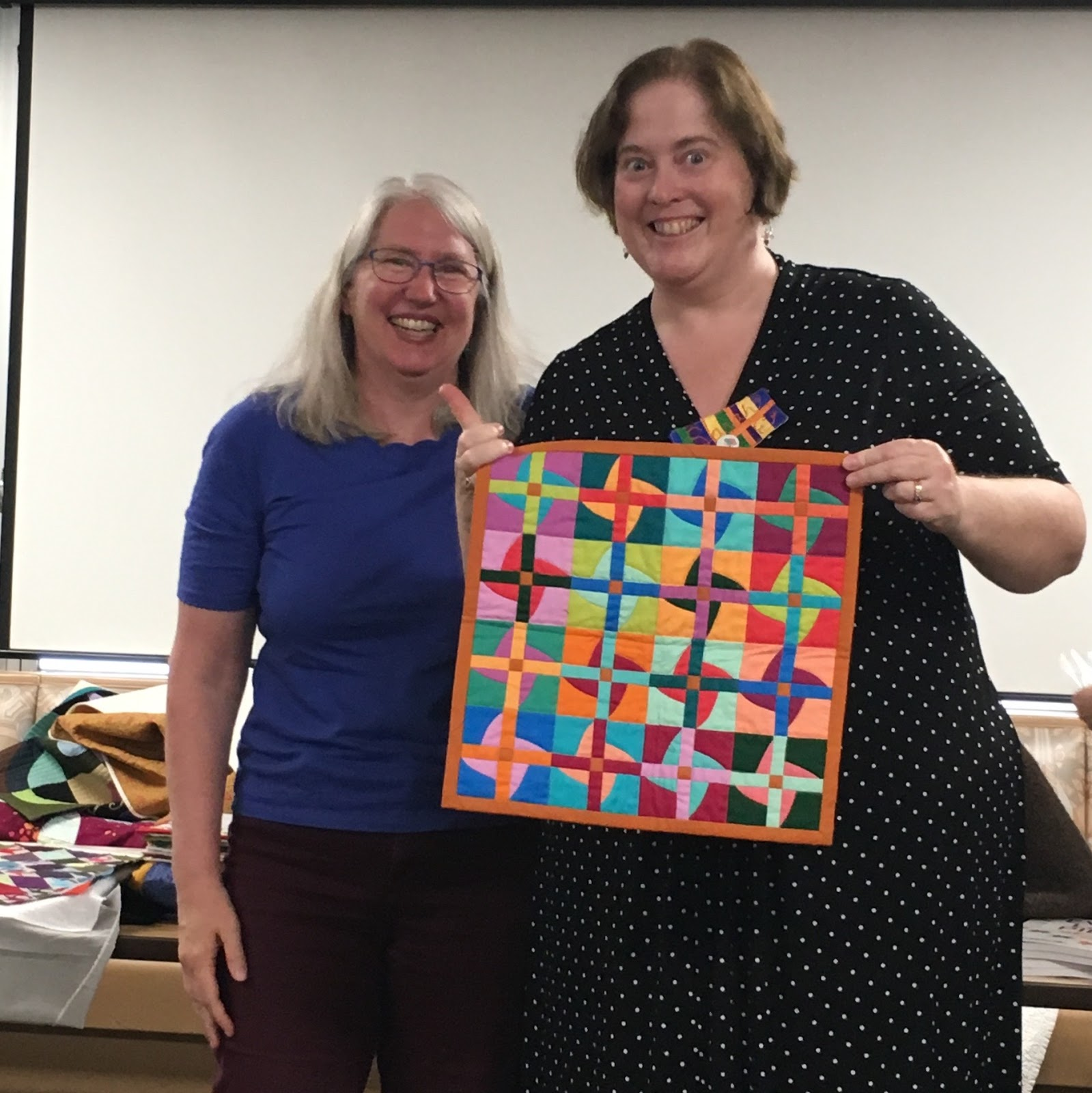 The chicago modern quilt guild thank you very much to amy struckmeyer for coordinating this swap and to the ann arbor members for the fun creative mini quilts keep an eye on our social urtaz Choice Image