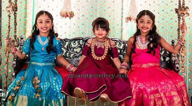 Manchu Vishnu Daughters Designer Jewelry