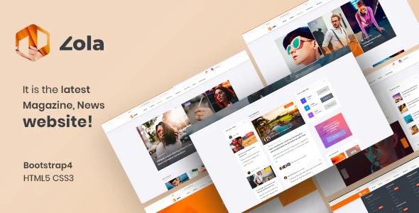 Best Magazine News HTML5 Template