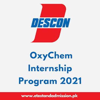 Descon OxyChem Internship Program 2021