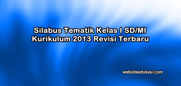 Silabus Kelas 1 SD/MI Kurikulum 2013 Revisi 2019