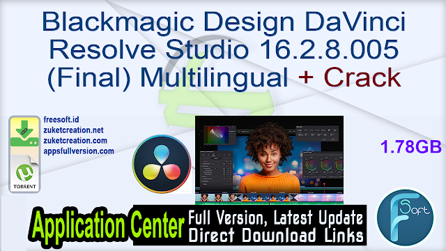 Blackmagic Design DaVinci Resolve Studio 16.2.8.005 (Final) Multilingual  + Crack