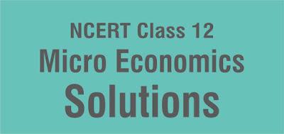 NCERT Class 12 Micro Economics Solutions