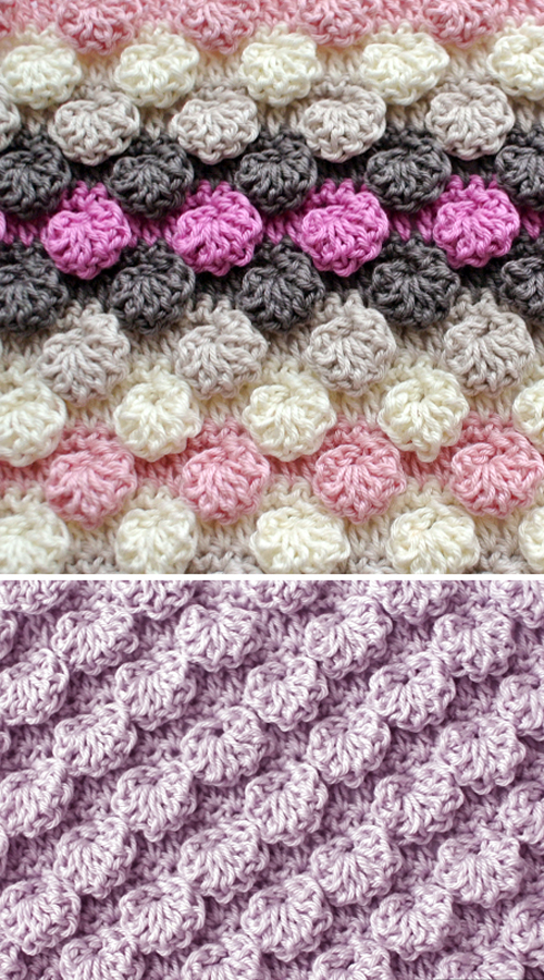 Bobble Shell Textured Stitch - Free Pattern
