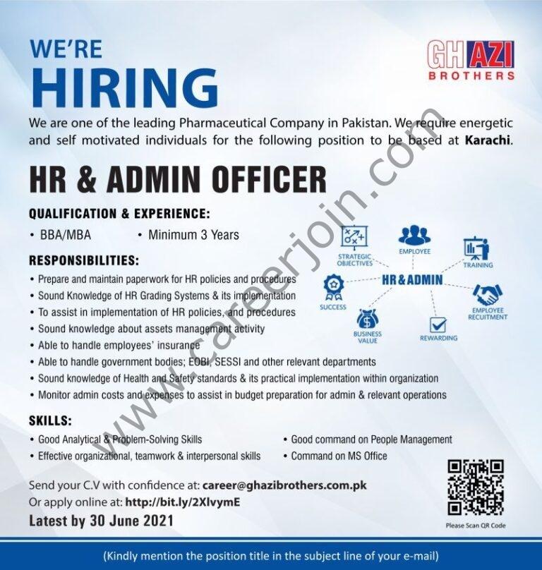 career@ghazibrothers.com.pk - Ghazi Brothers Jobs 2021 in Pakistan