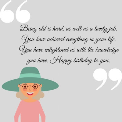 Happy Birthday Wishes for Old Lady