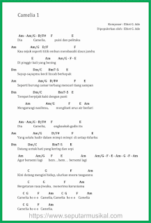 chord lagu camelia 1 ebiet