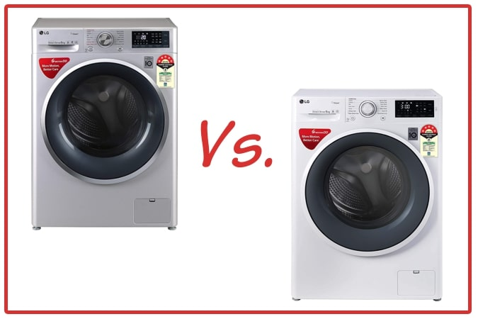 LG FHT1408ZWL (left) and LG FHT1006ZNW (right) Washing Machines comparison.