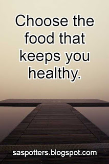 Choose the food that keeps you healthy.