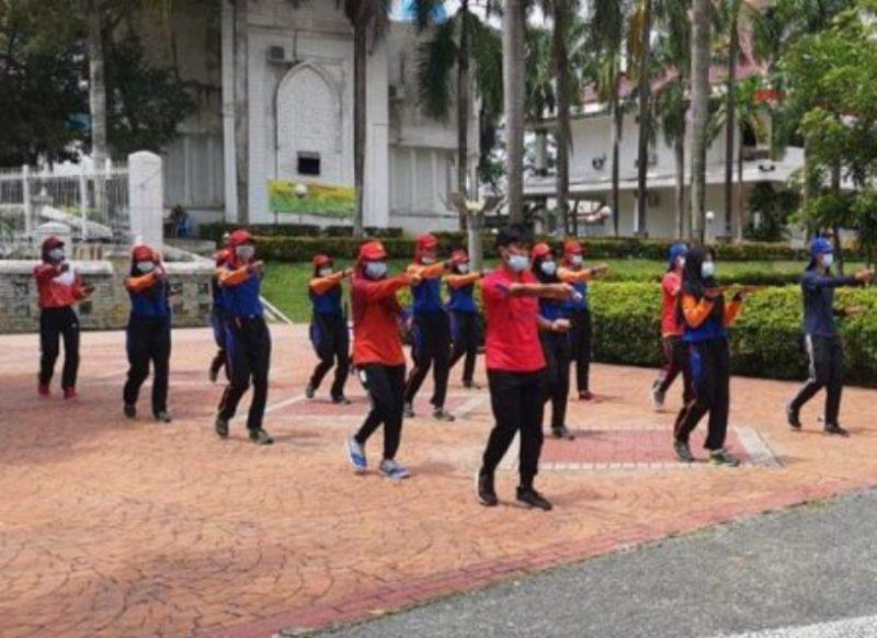 Paskibra Kota Batam Melakukan Latihan Jelang Peringatan HUT RI