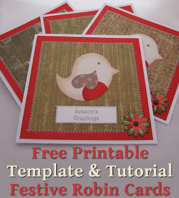 Sweet Robin bird festive cards in red and green ideal for Christmas