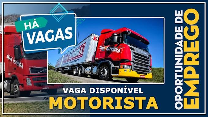 Trans oliveira abre vagas para motorista em 5 cidades