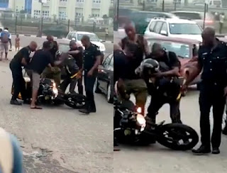 Drama Between Police And Dispatch Rider Even Though The New Lagos Law Doesn't Affect Dispatchers