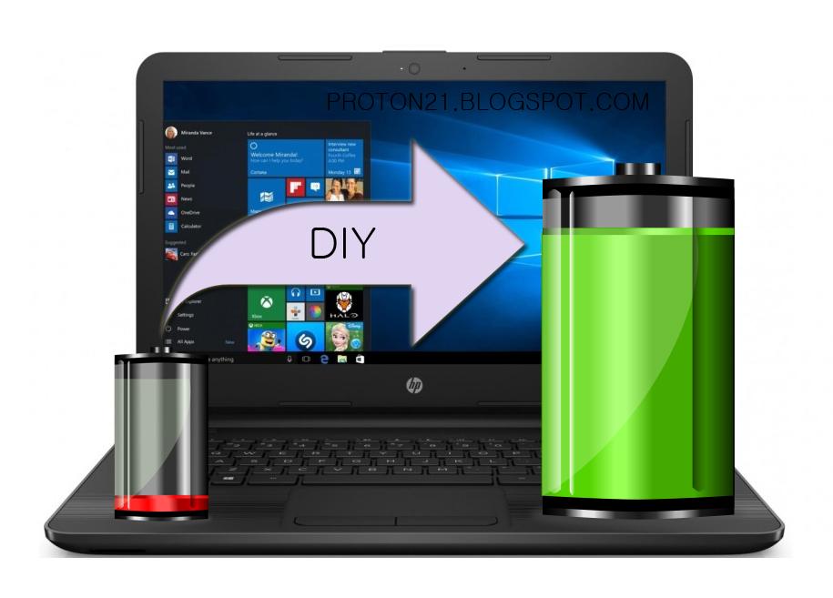Memperbaiki Baterai Laptop Yang Ngedrop Dengan Murah Meriah