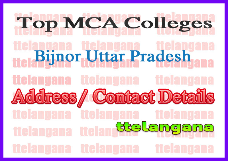 Top MCA Colleges in Bijnor Uttar Pradesh