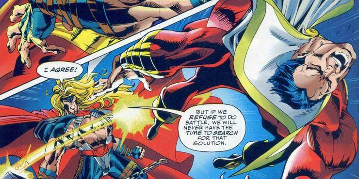 Thor puede incluso controlar el rayo mágico de SHAZAM