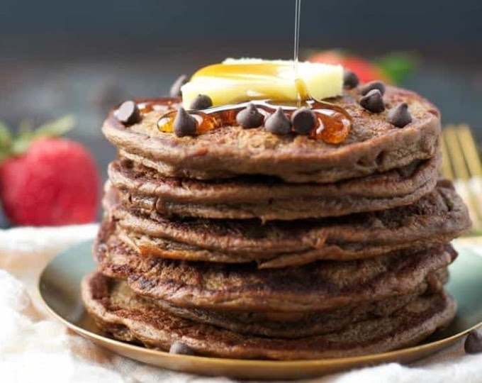 Sneaky healthy Chocolate Chip Pancakes
