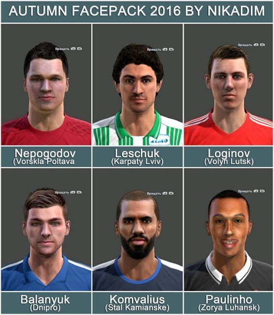 PES 2013 Autumn Facepack 2016