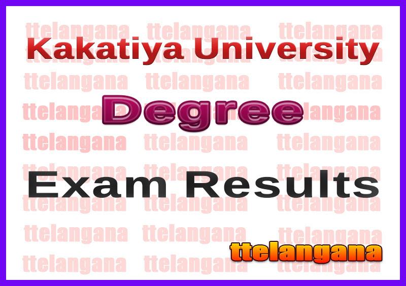 Kakatiya University KU Degree 1st 2nd 3rd Year Results