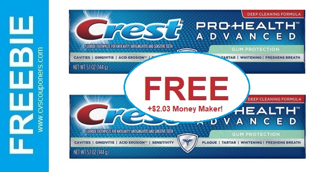 FREE Crest Pro-Health Toothpaste at CVS 11-3-11-9