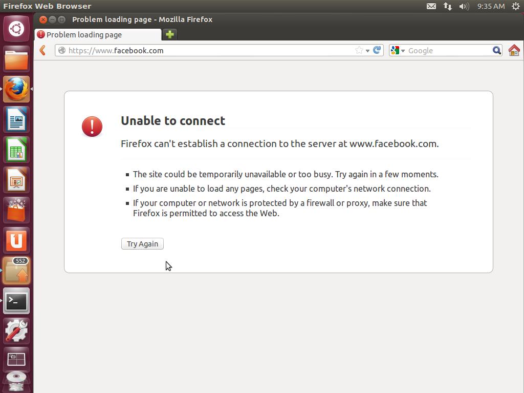 How To Block Access To Facebook (HTTP & HTTPS) On Ubuntu