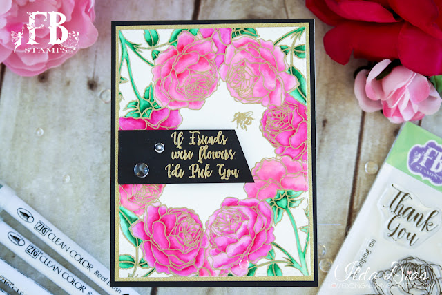 Roses in Bloom Card Friendship Card by ilovedoingallthingscrafty