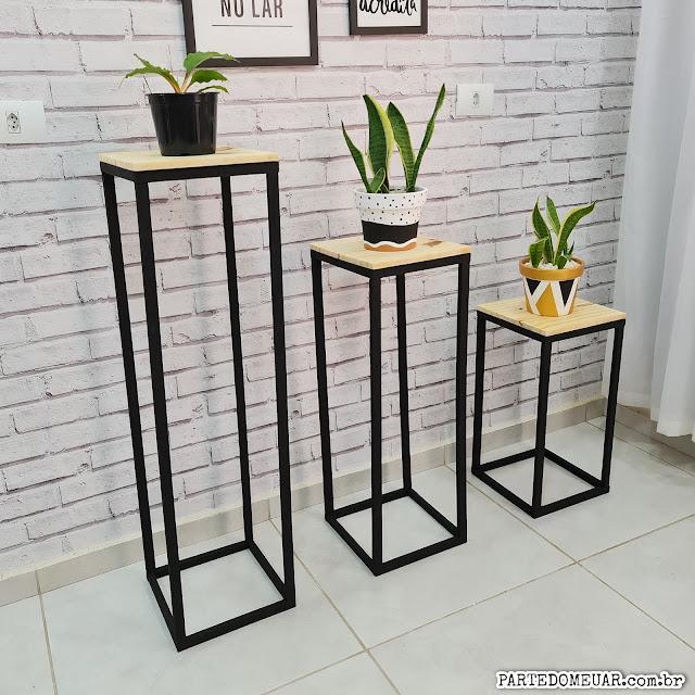 trio de mesas decorativos