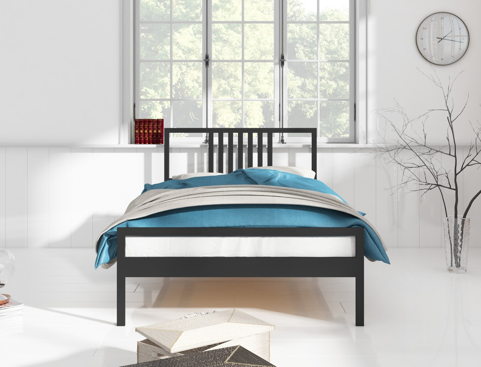 Łóżko metalowe wzór 34