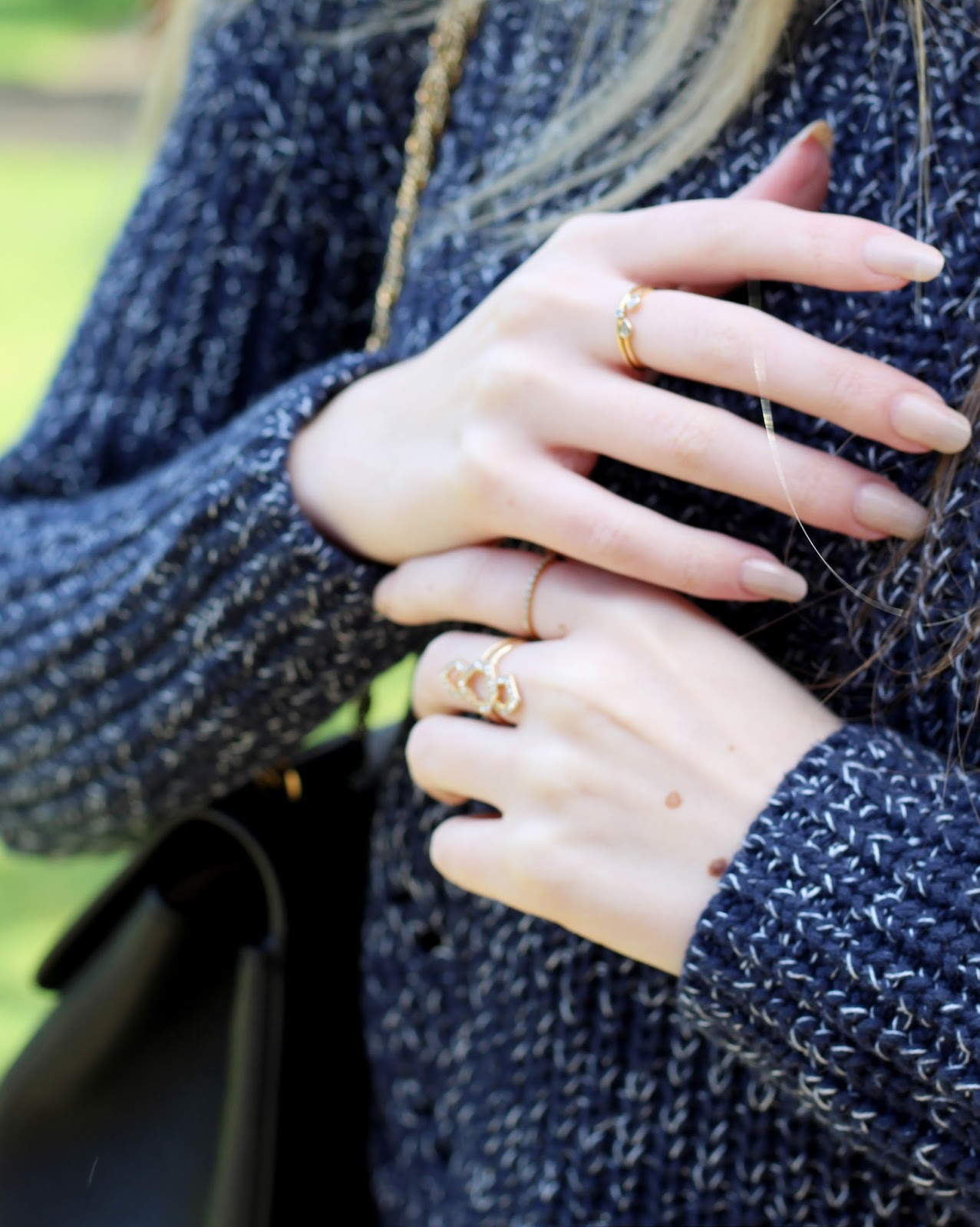 dainty stacking rings blogger