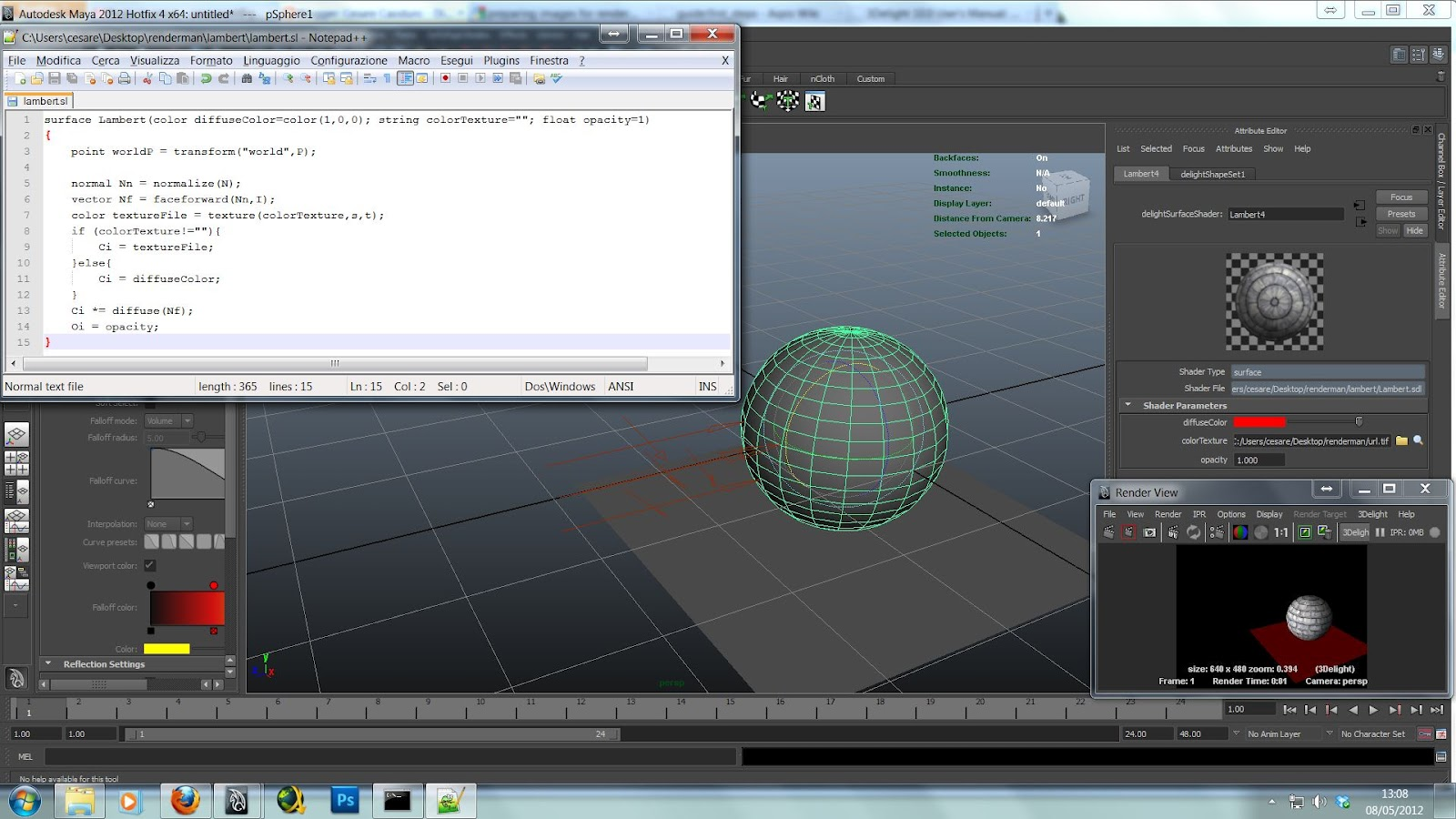 Simplest shader tutorial for renderman