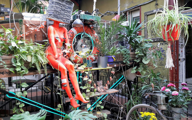 What you can recycle Look at Szimpla Kert Budapest