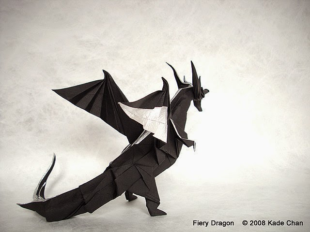 step by step origami dragons