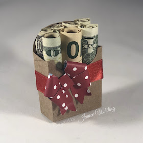 money roll box with small double bow die!