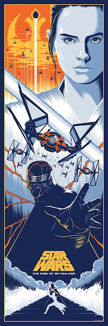 """New York Comic Con 2019 Exclusive Star Wars The Rise of Skywalker """"End of a Saga"""" Screen Print by Eric Tan x Bottleneck Gallery"""