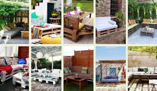 OUTDOOR PALLET SOFAS AND TABLES