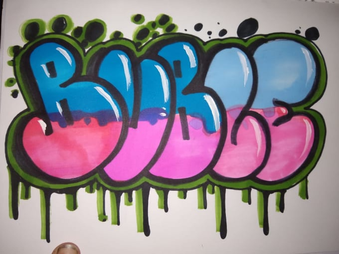 Gambar Grafiti Bubble