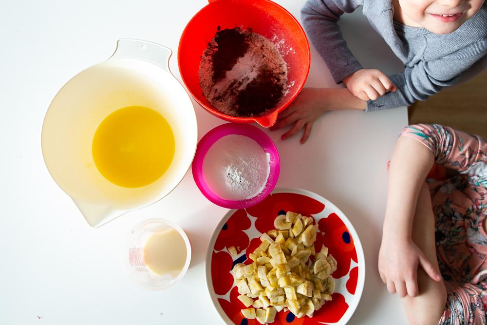 muffinssit lasten kanssa resepti helppo munaton