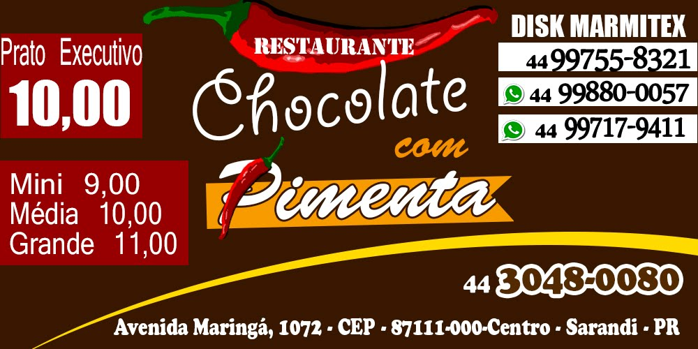 RESTAURANTE CHOCOLATE COM PIMENTA