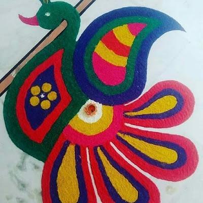 Simple and Easy Rangoli for Diwali