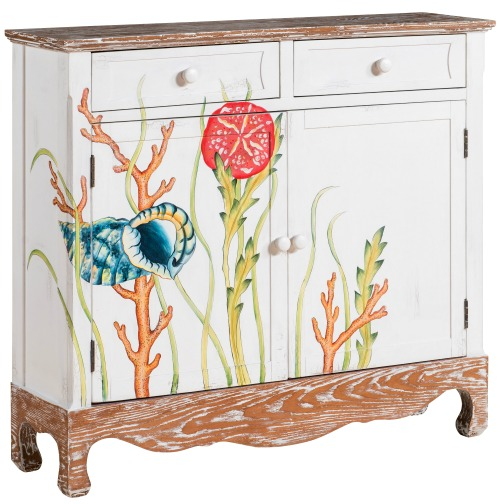 Under the Sea Painted Cabinet
