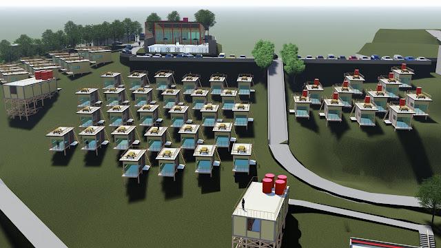 site plan villa cad
