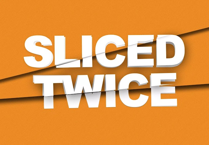 Sliced Twice Text Effect PSD