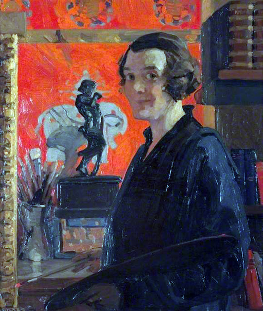 Dorothy Carleton Smyth, Self Portrait, Portraits of Painters, Fine arts, Portraits of painters blog, Dorothy Carleton, Paintings of Dorothy Carleton Smyth, Painter Dorothy Carleton Smyth