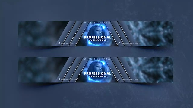 Make Professional YouTube Channel Banner Template | Adobe Photoshop CC