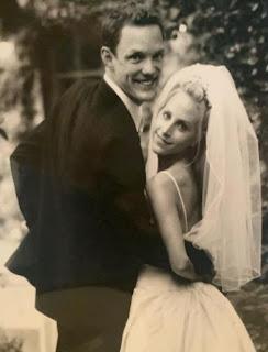 Heather Helm & her spouse Matthew Lillard in their wedding dress