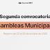 En 11 municipios se amplía el registro para Asambleas Municipales