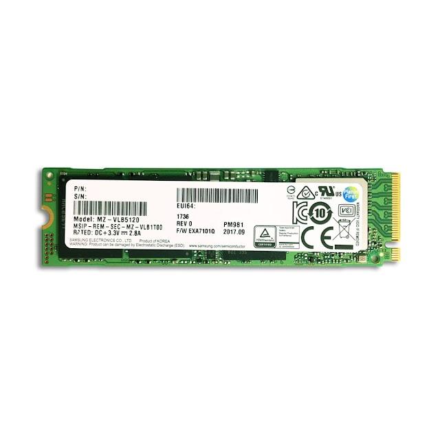 SSD Samsung NVMe PM981a M.2 PCIe Gen3 x4 256GB